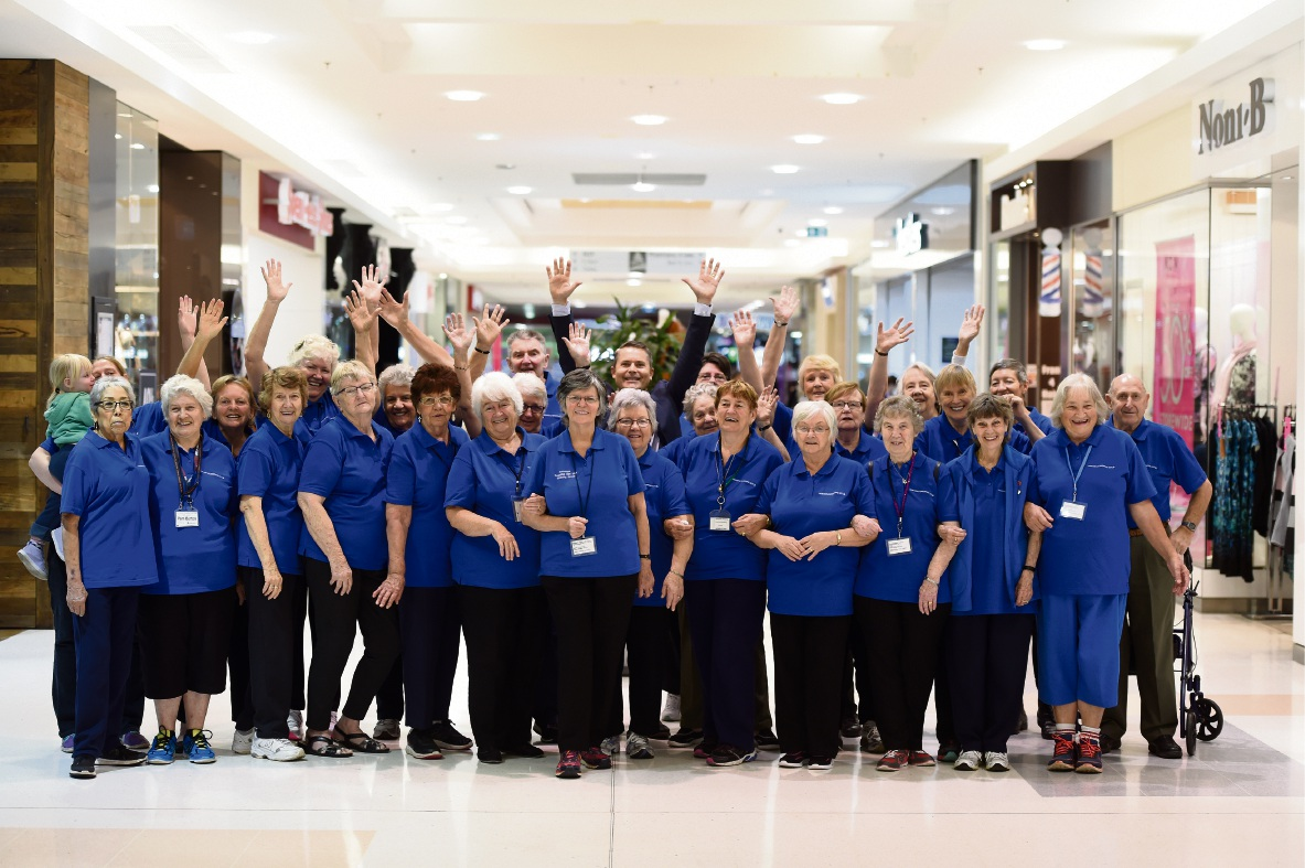 Armadale Shopping Centre Manager Quentin Dennis with the walking group. Picture: Jon Hewson d469275