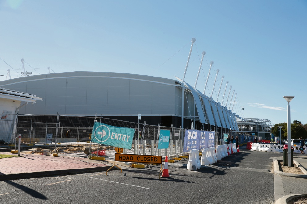 The Wolves' new stadium under construction. Picture: Martin Kennealey d469818