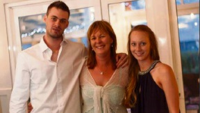 Simone Headley with her son Matt and daughter Jessica. Picture: Supplied