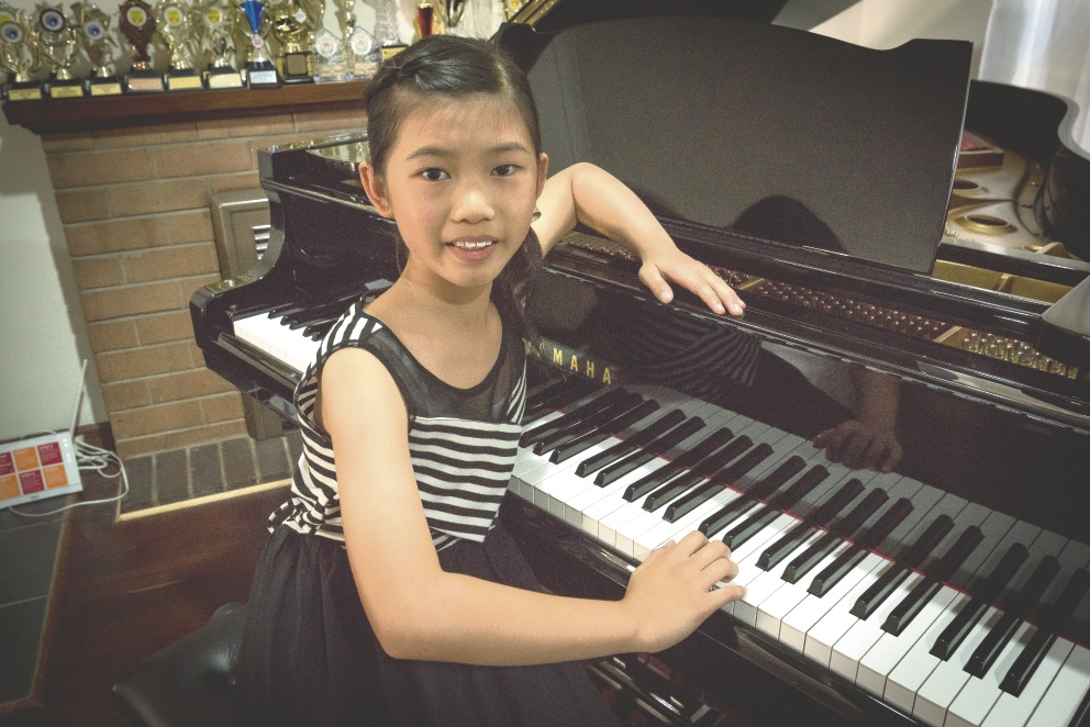 Talented musician Sidney Eric of Rossmoyne (11) will perform at Willetton Uniting Church on June 18.
