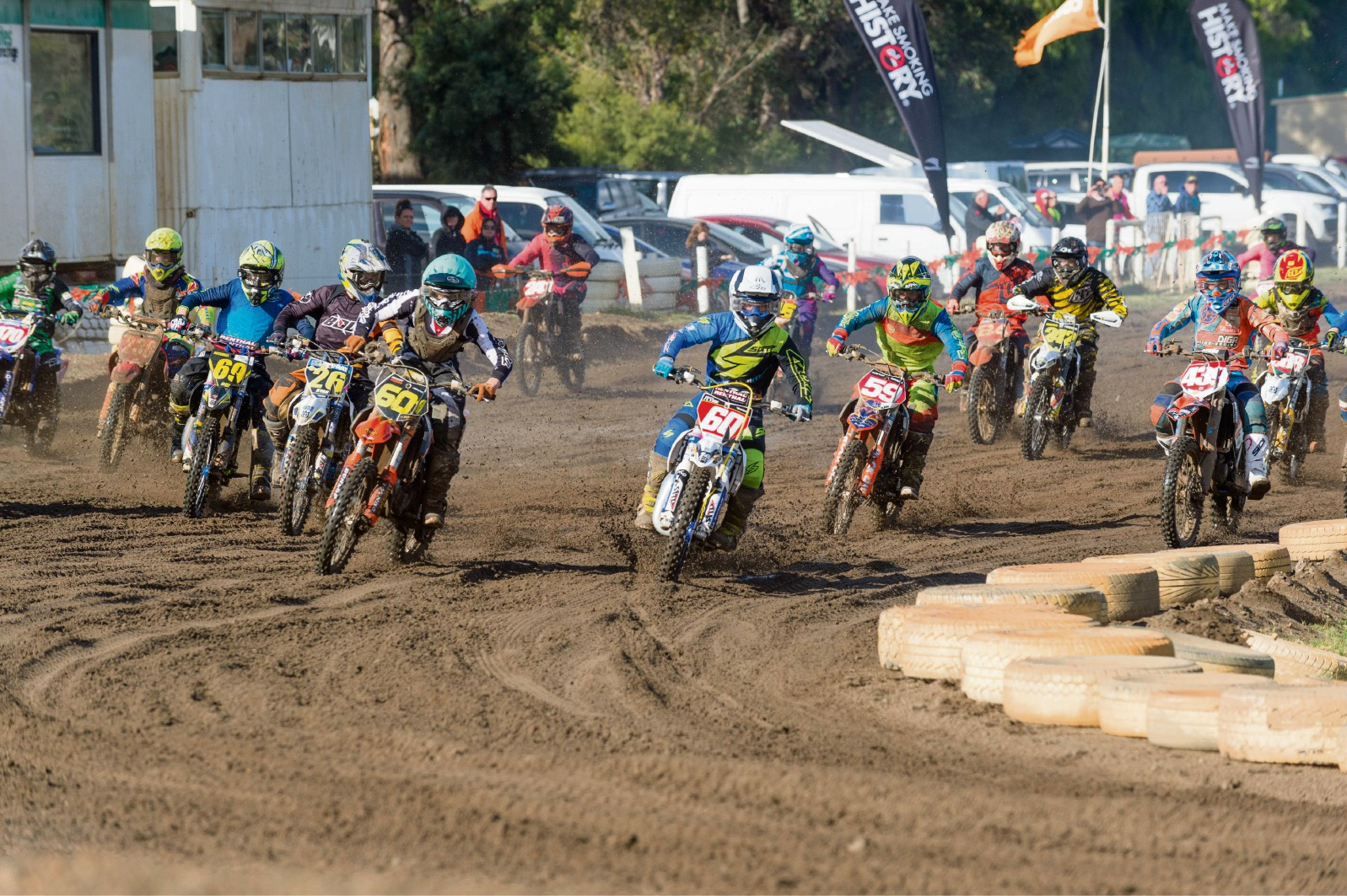 Juniors on the track at round two of the Motocross State Championship. Picture: Gordon Pettigrew/True Spirit Photos