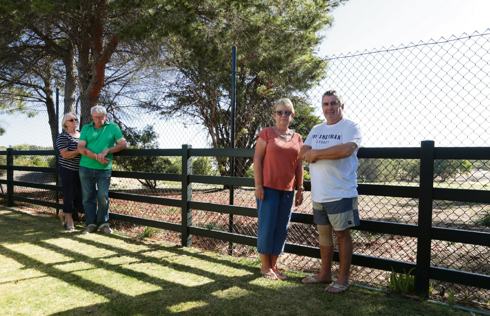 Yanchep residents Barry and Heather Powell and Pam and Mike Tierling. Picture: Martin Kennealey