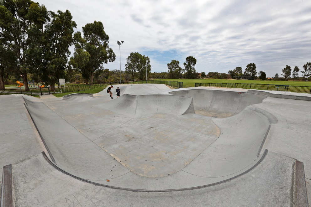 Kinross Skate Park is one of two located in the City of Joondalup. Picture: Martin Kennealey