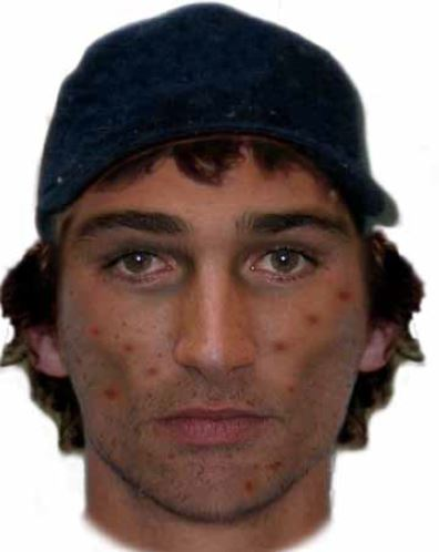 A composite image of the man police would like to speak to.