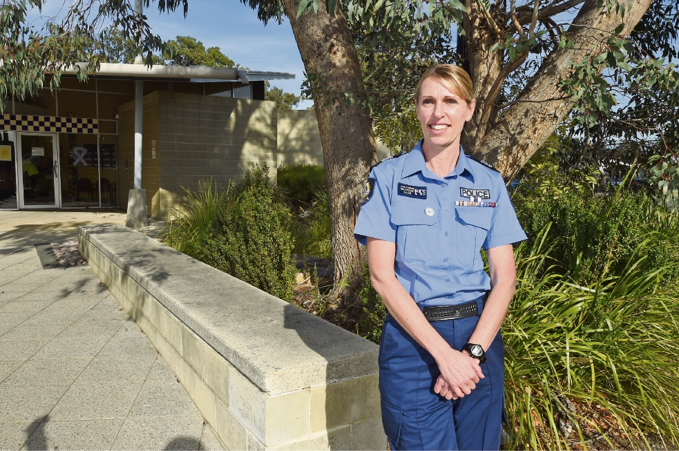 Gosnells officer-in-charge Sgt Jodie Pearson. Picture: Jon Hewson