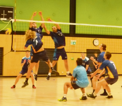 Action from the volleyball tournament held in Mandurah last weekend.