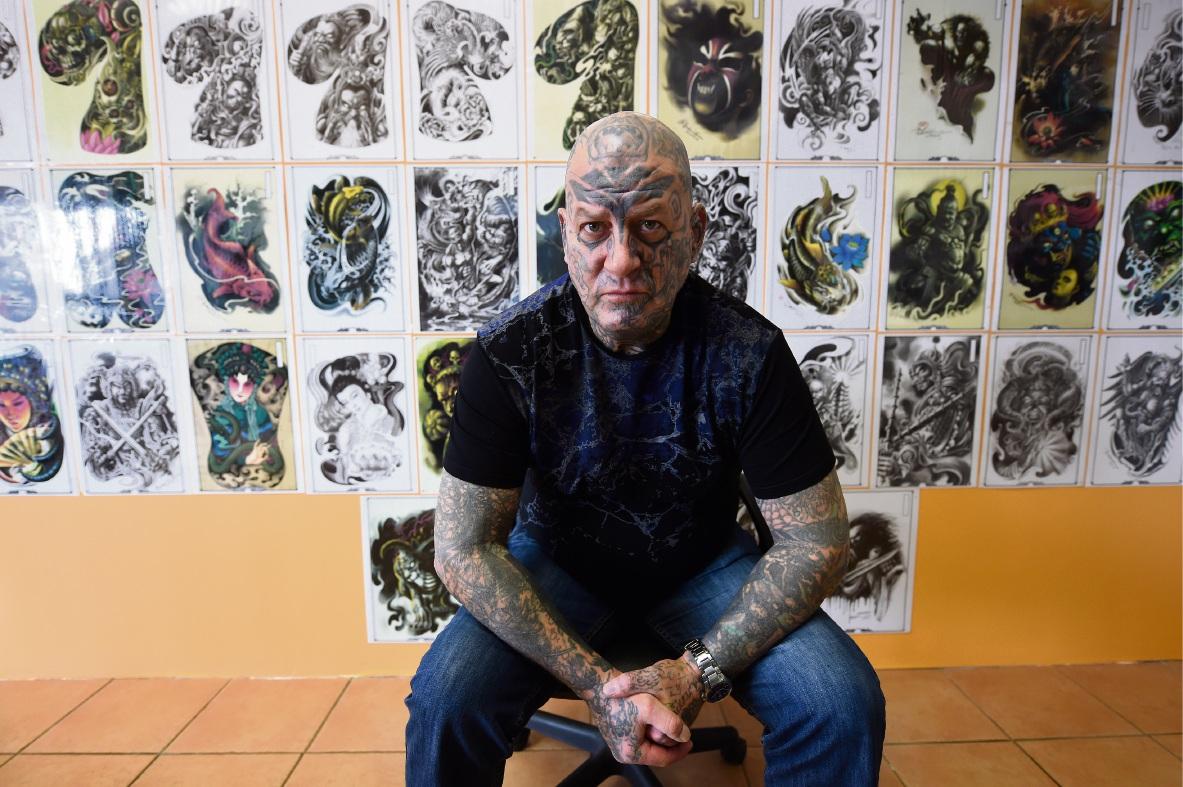 Tattooist AJ of King Tattoos.