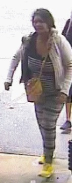 One of the women police would like to speak to over the theft of a doona from a store in Midland.