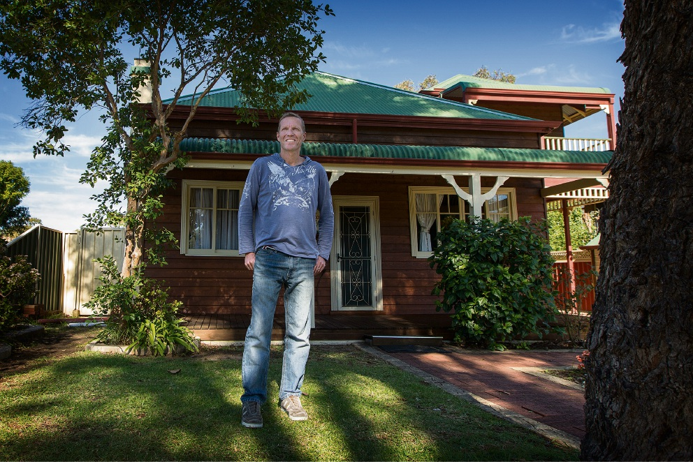 Noel Jess fancies his chances with the trial he is taking part in as he faces bowel cancer. Picture: Will Russell �������www.communitypix.com.au   d469878