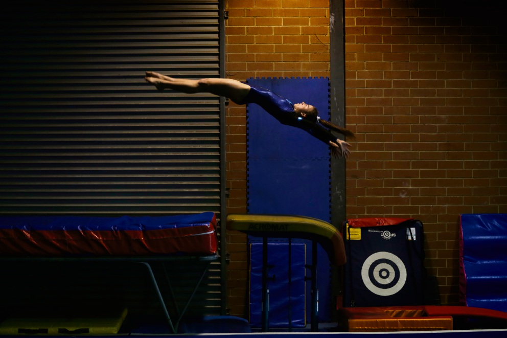 Lauren O''Brien (20) of Noranda was named as the WA State Vault Champion, WA State Floor Champion and Level 10 All Around Champion. Picture: Andrew Ritchie