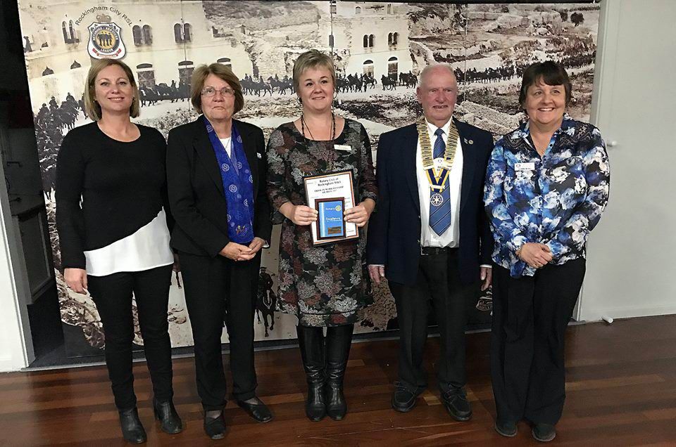 Cooloongup school chaplain recognised by Rotary for going above and beyond to help her students