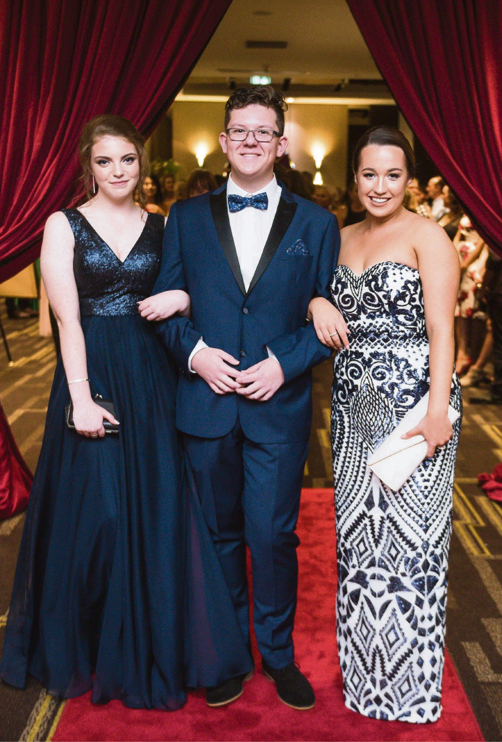 Mackenzie Hagen, Taymar Gordon and Emily Magee. Pictures: Event Photography