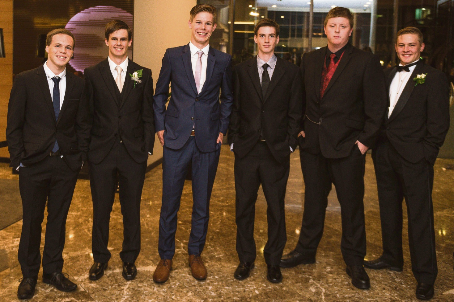 Jacob Mellor, Jayden Hood, Kennedy Hile, Michael Penno, Nathaniel Barry and Owen Raynor. Pictures: Event Photography