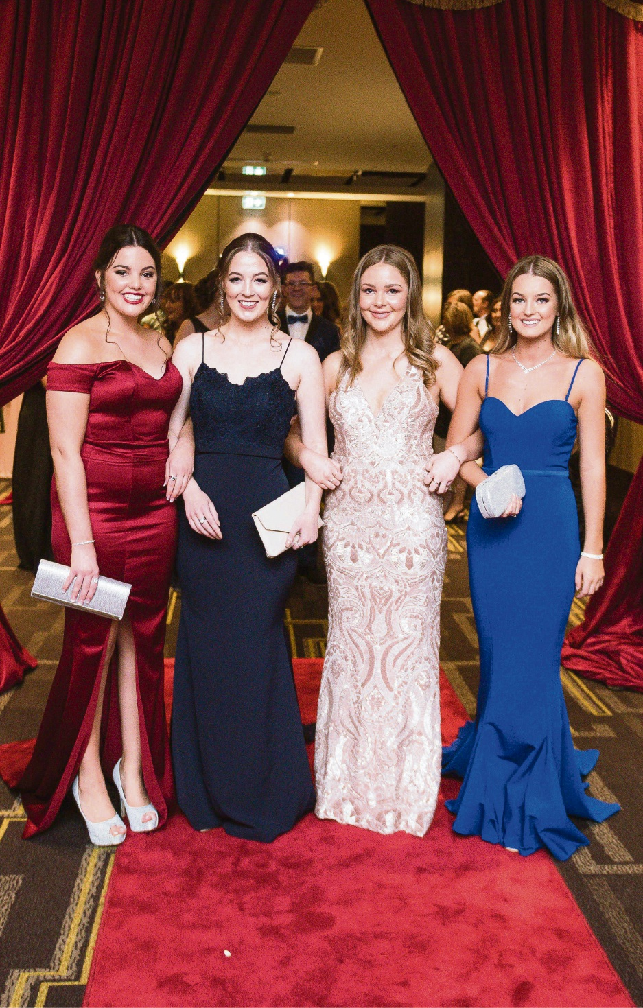 Elise Webster, Abbie Nicholls, Tessa Anderson and Melissa Green. Pictures: Event Photography