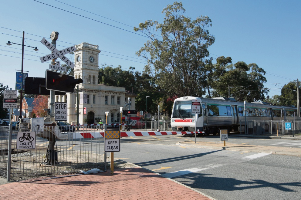 The State Government plans to remove level crossings on the Midland line. Picture: Bruce Hunt