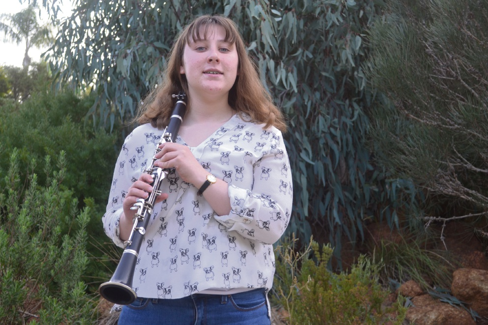 Elana Girling has excelled since taking up the clarinet.
