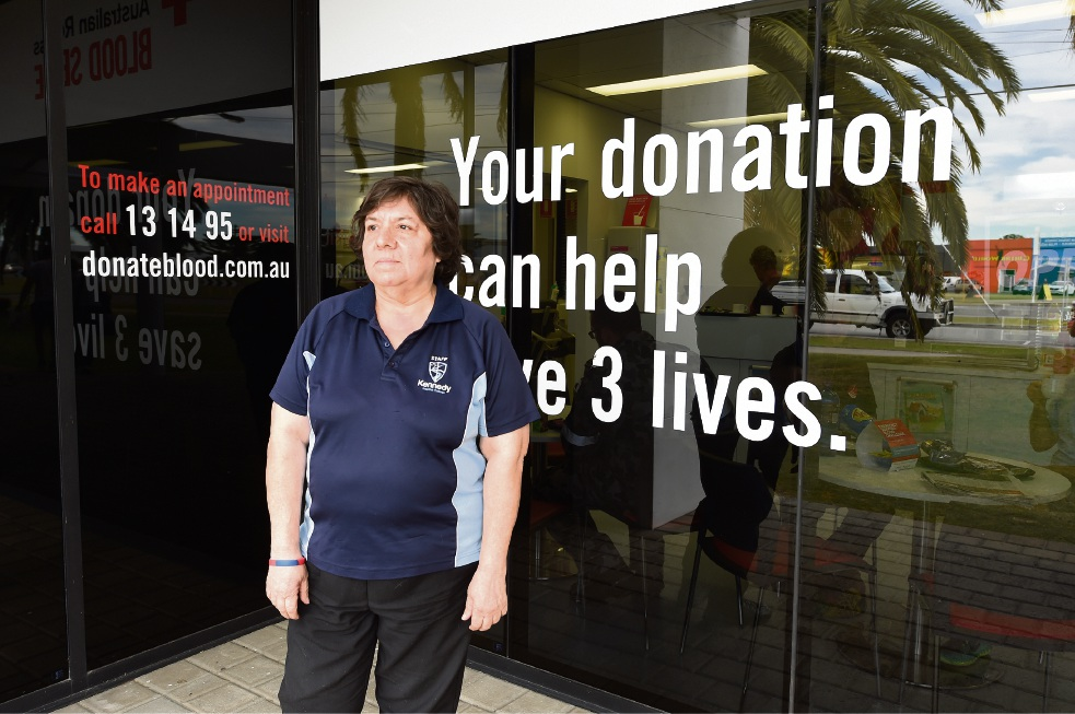 Elizabeth Lourensz is being honoured for donating more than 95 litres of blood. Picture: Jon Hewson �������www.communitypix.com.au   d470059