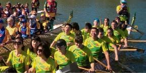 Dragon boats churn up Champion Lakes in Chung Wah festival