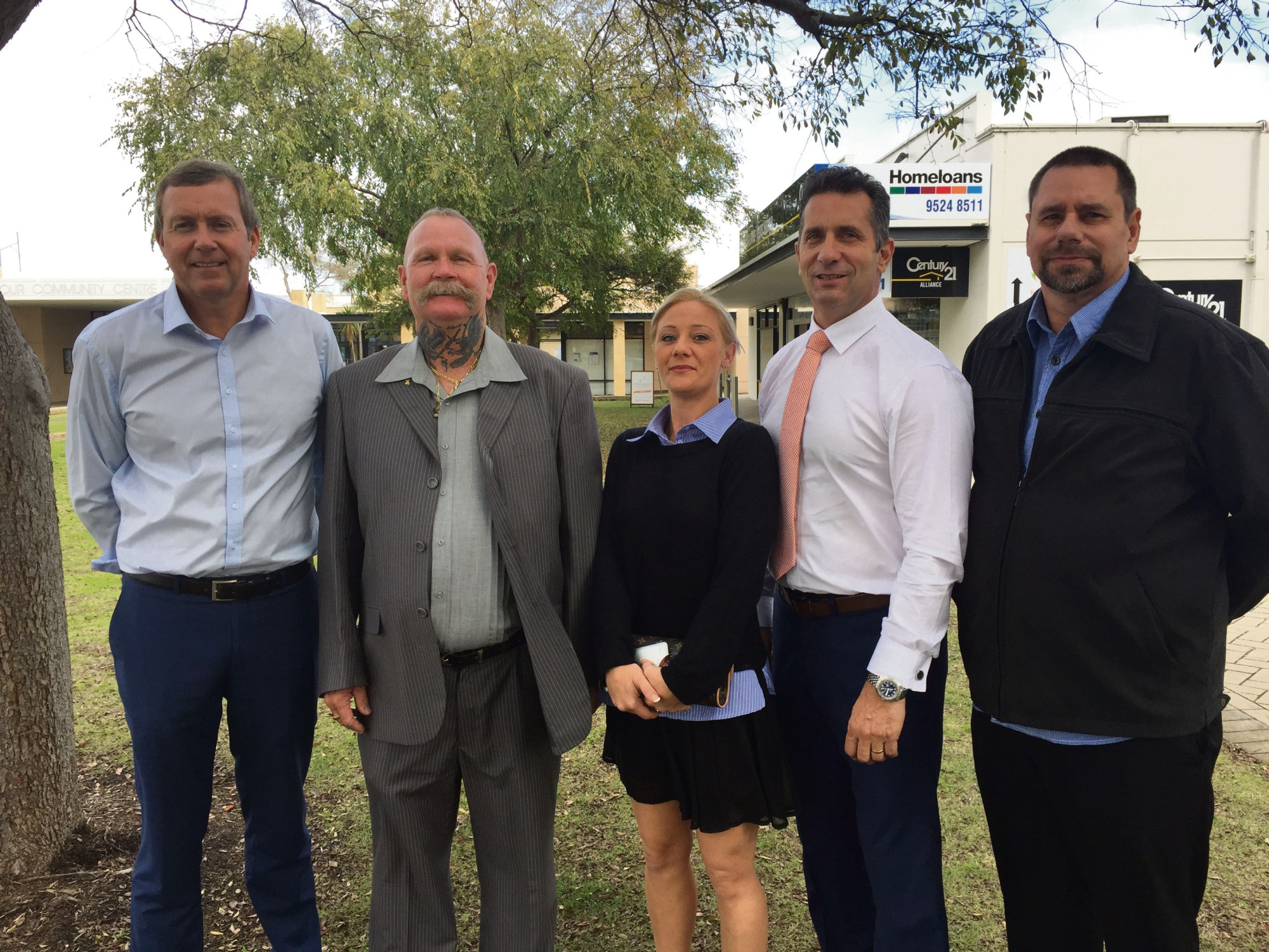 Baldivis MLA Reece Whitby, WAHA chief executive Owen Farmer, WAHA secretary Tanya Waugh, Warnbro MLA Paul Papalia and WAHA board member Steven Brown.