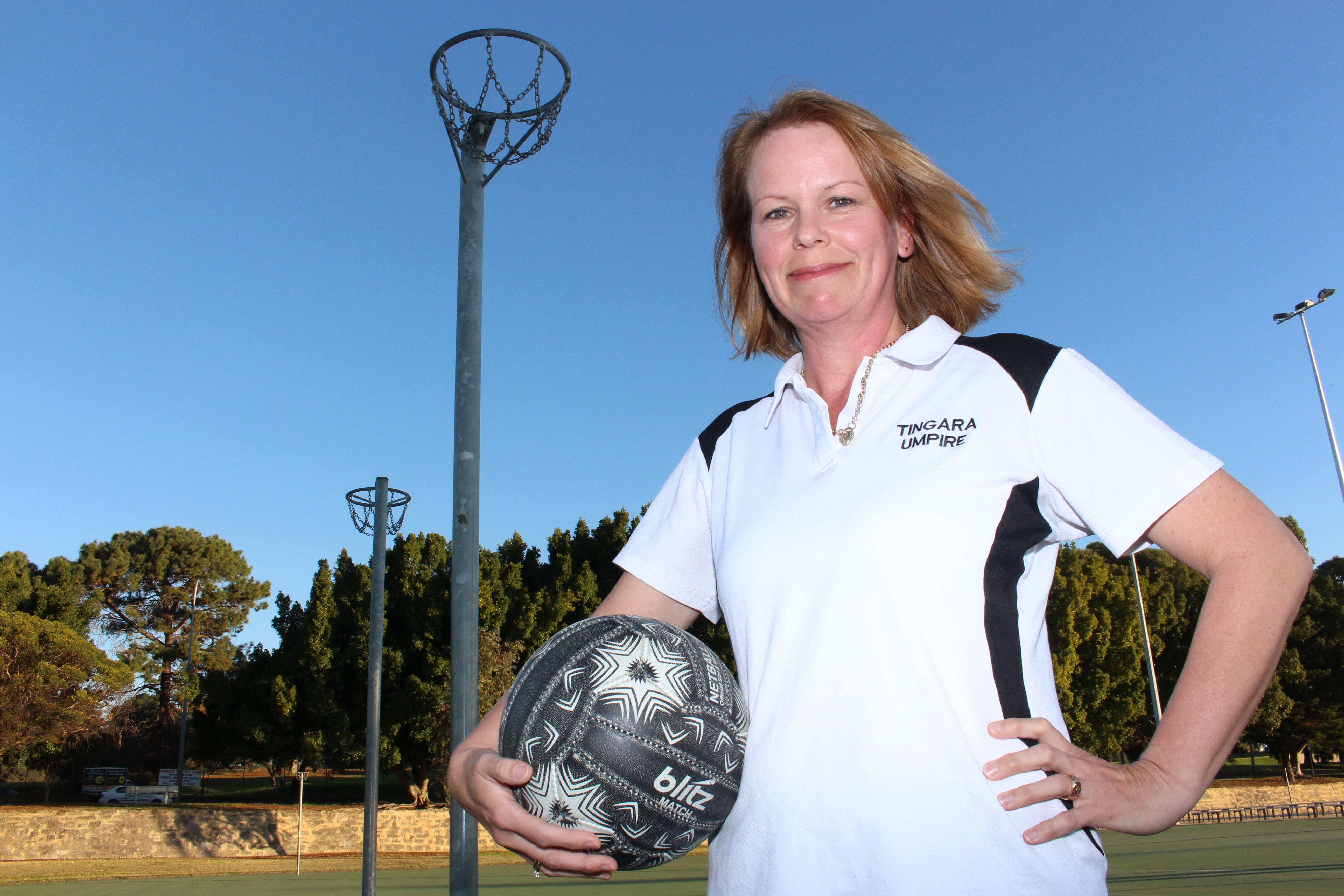 Tingara Netball Club umpire co-ordinator Keryn Rae honoured for service to sport