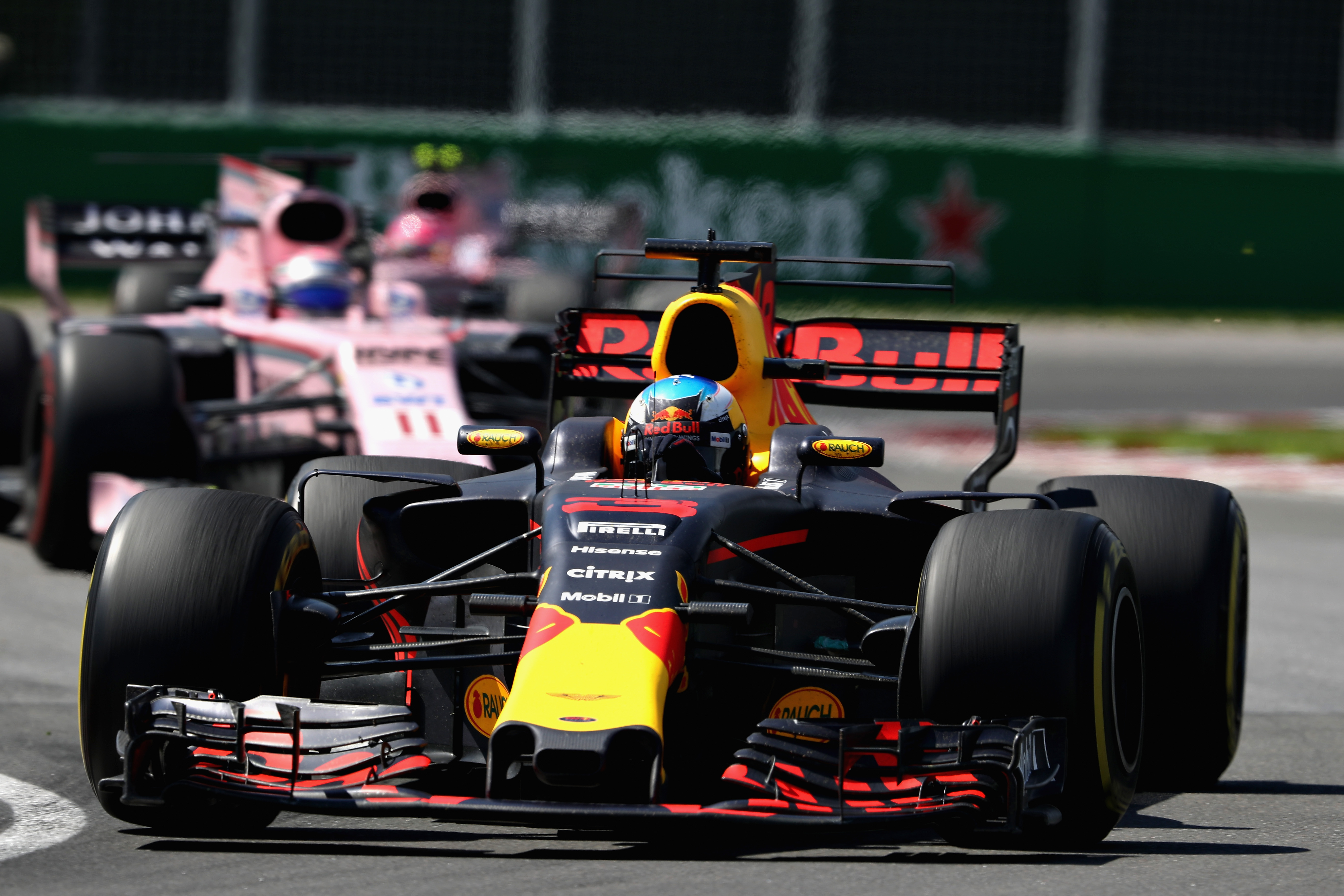 Daniel Ricciardo on track during the Canadian Formula One Grand Prix at Circuit Gilles Villeneuve. Picture: Mark Thompson/Getty Images