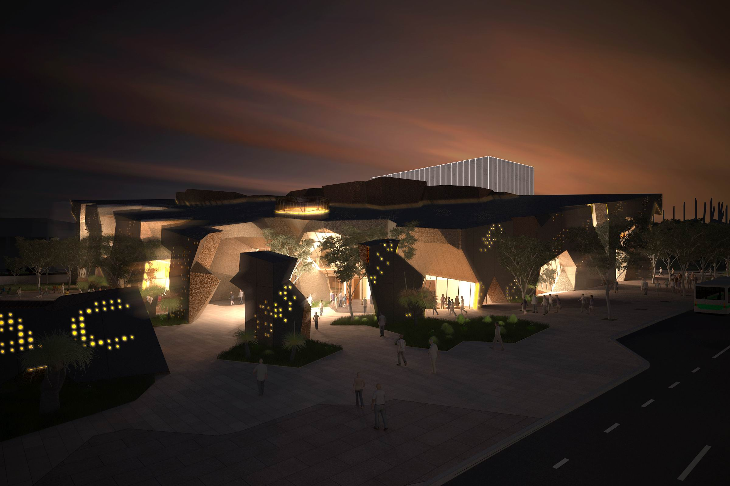Artist's impression of the proposed performing arts centre in Joondalup.