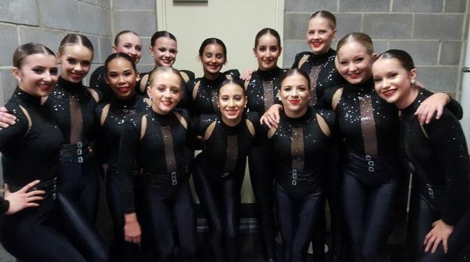 Danceforce troupe at the Dancelife Unite competition.