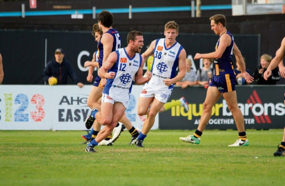East Fremantle's Andrew Stephen kicked a career-high seven goals in the loss to Claremont on Saturday. Picture: Phil Elliott/ PixEll Photography
