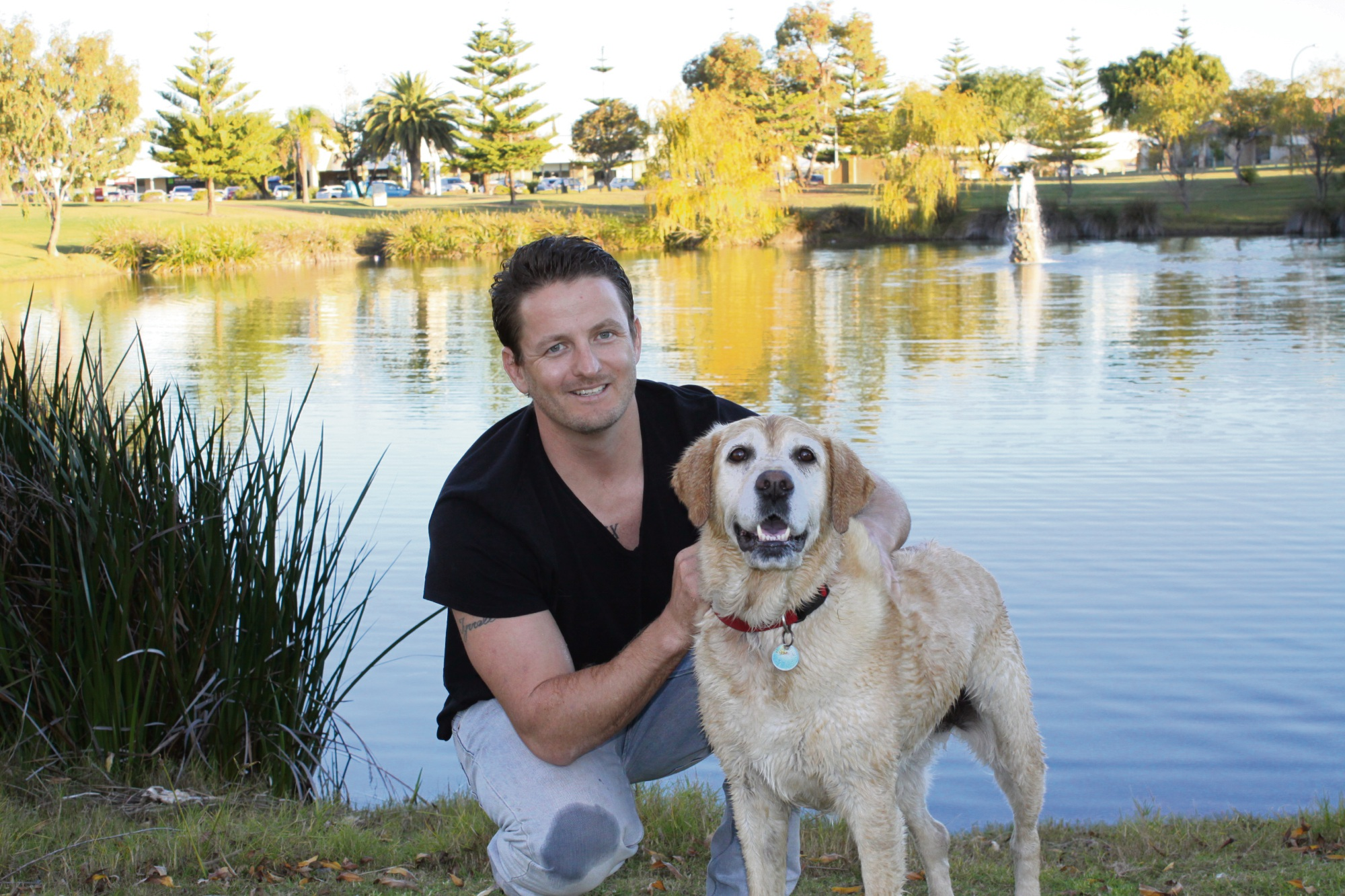Dean Tyrrell and Nala at their local park, one of Nala's favourite destinations.