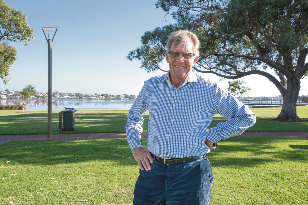 John Hayes wants the idea to develop a cafe on Shelley foreshore shelved.