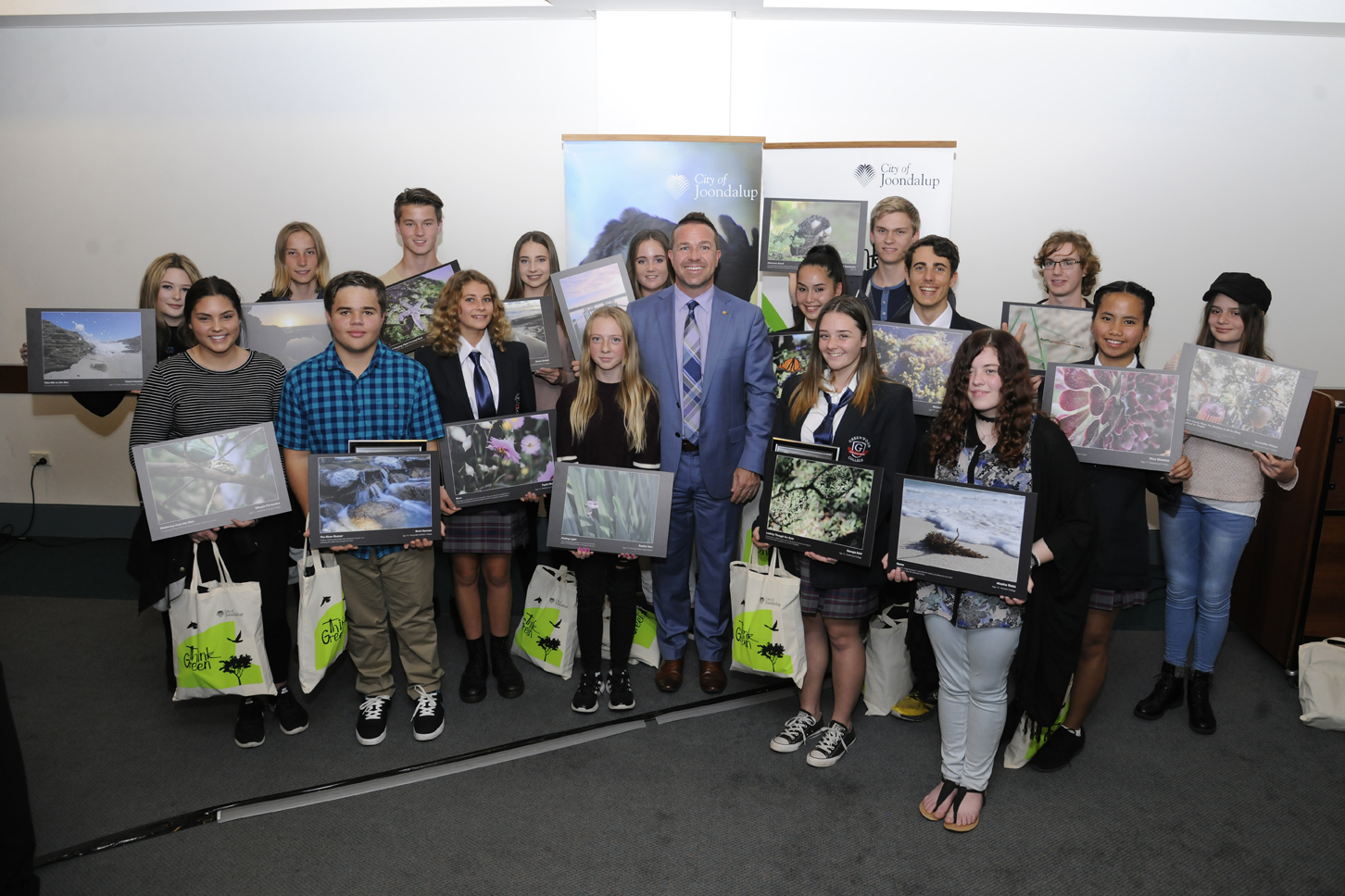 This year's finalists with Mayor Troy Pickard. Picture: Chris Kershaw