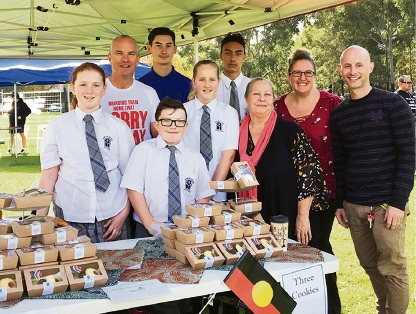 Catholic Education WA director Tim McDonald and Mater Dei College students with teachers Cheryl Bradley, Peta Brown and Toby Hurd.