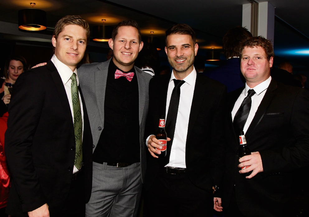 Dylan Smith, Lee Bartlett, Simon Faslo and Ryan Powell Picture: Marie Nirme d465024