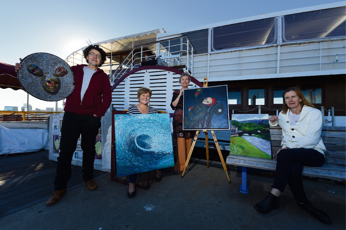 Perth artists' work to be showcased aboard Paddle Steamer Decoy