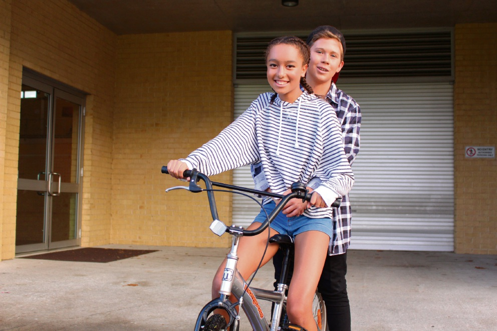 Shae Clayfield and Angus Clouston as Gaz and Kim. Picture: Finley Mason