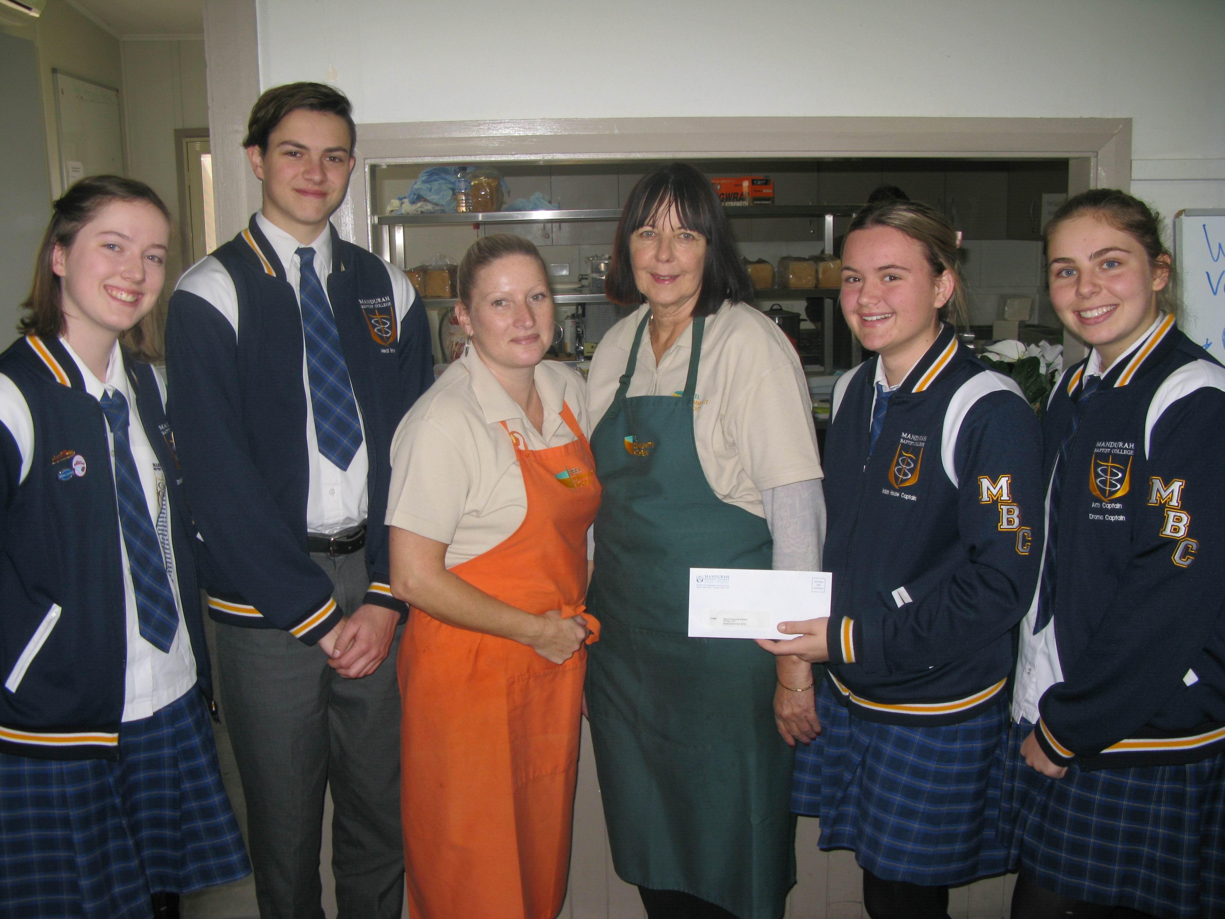 Mandurah Baptist College students donate $600 to Peel Community Kitchen
