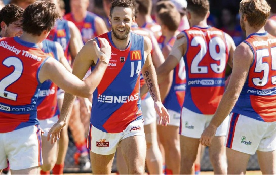 West Perth's Shane Nelson celebrated his 100th game last weekend with a win over Peel. Picture: Matt Beilken