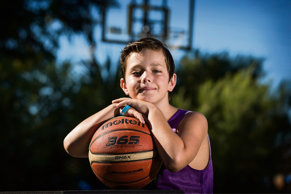 Eight-year-old Brooklyn Paparone is already playing under-12s. Picture: Will Russell