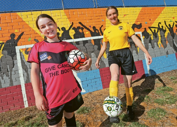 Rose Maree Hoath (10) will cheer on her mum Penny at the World Masters Games in Auckland at the end of April.