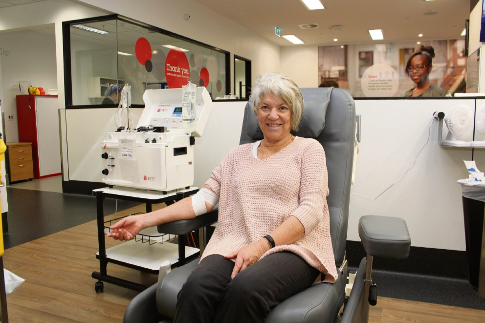 Dr Anna Lichtenberg has donated blood and plasma more  than 250 times.