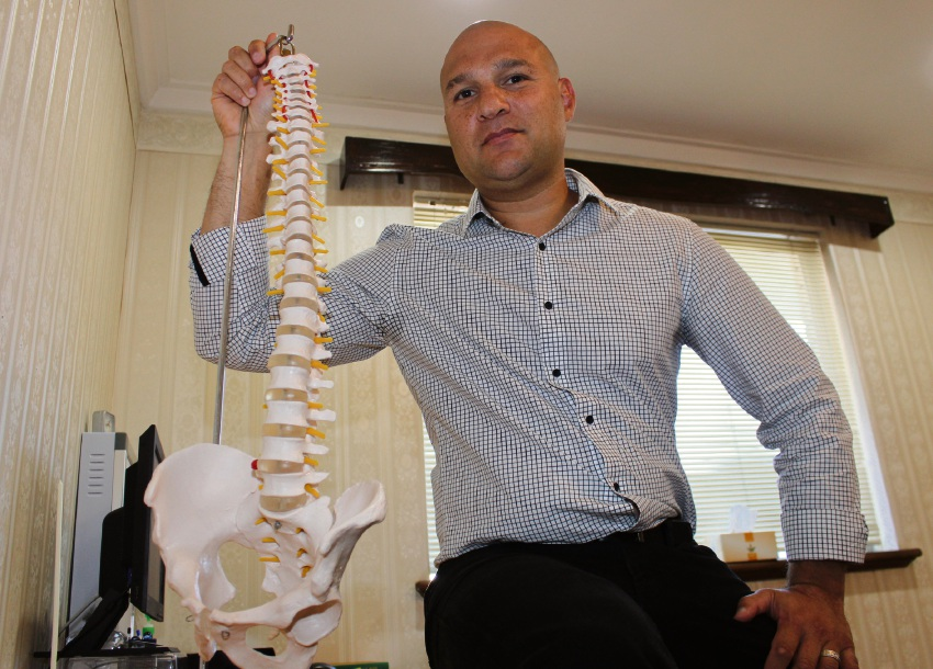 Aubrey Monie at his Alfred Cove Precision Physiotherapy clinic.