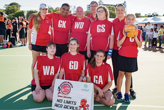 The strong performances of the No Limits team were a highlight of the championships for the Southern District Netball Association.