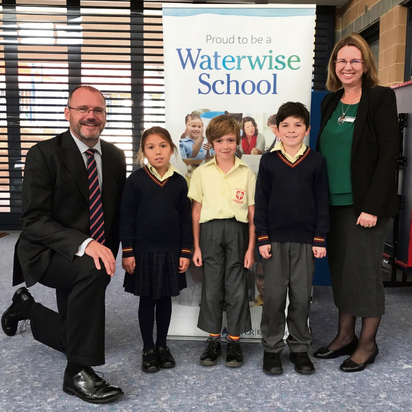 Sacred Heart school received recognition for 10 years of teaching children to be waterwise.