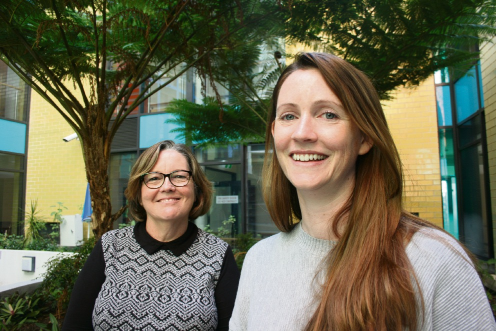 St Bartholomew's House's Tina Merry and Cancer Council WA's Emily Box. Picture: Giovanni Torre.