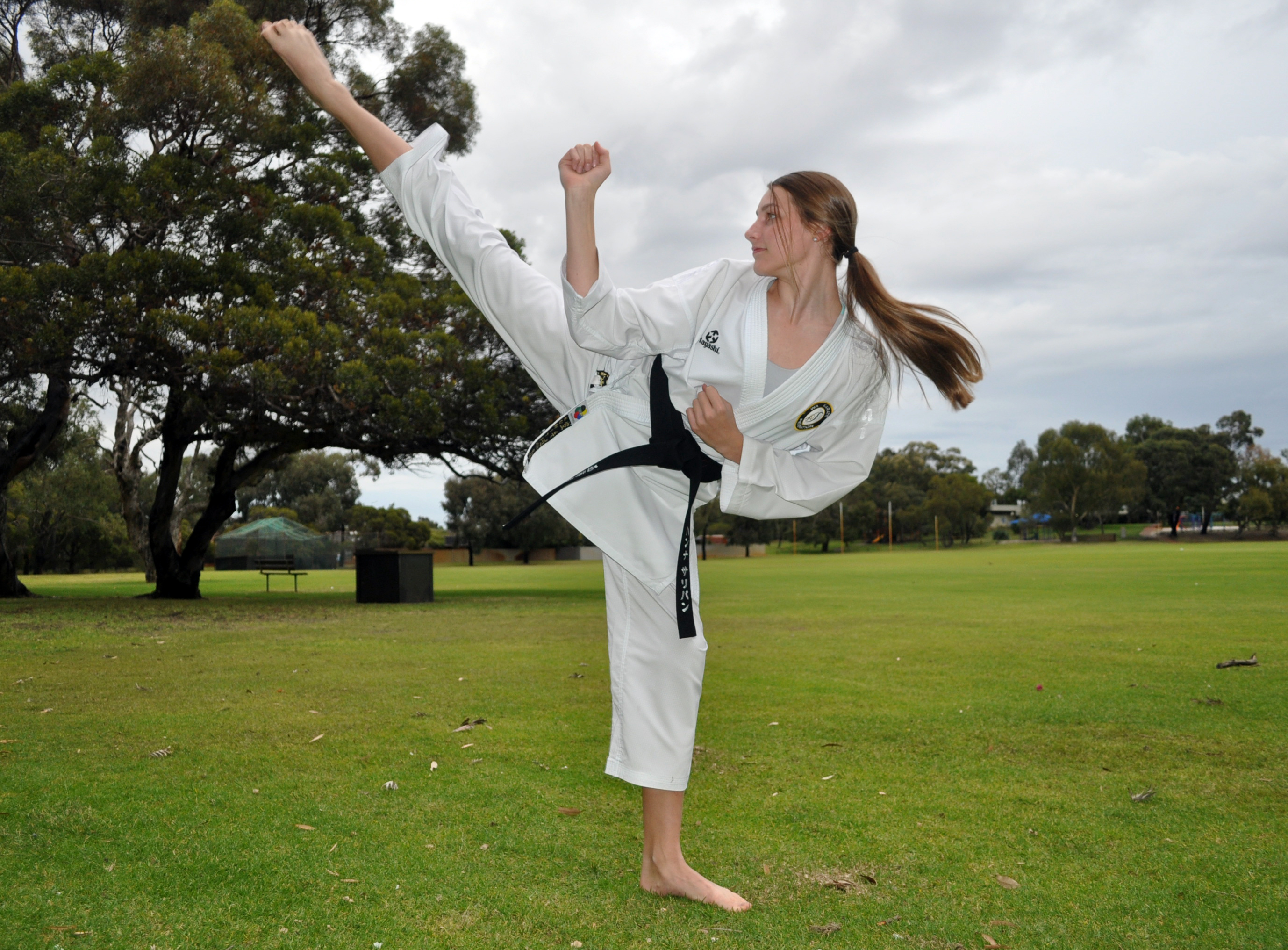 Hannah Sullivan is training for the Karate Junior World Championships in Spain in October.