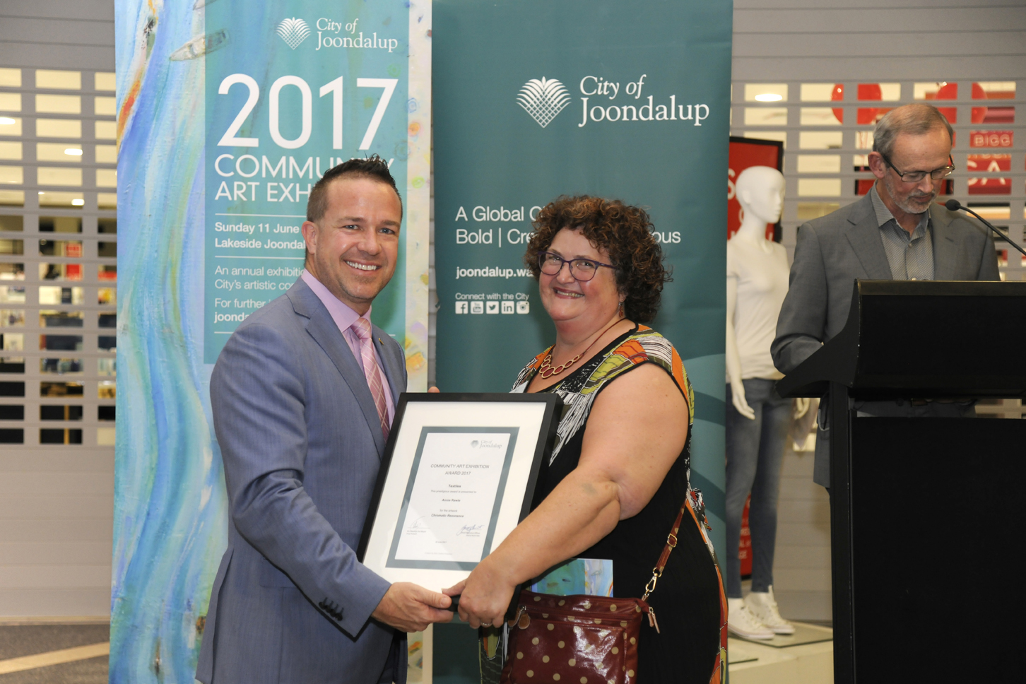 Mayor Troy Pickard and Annie Rawle. Picture: Chris Kershaw