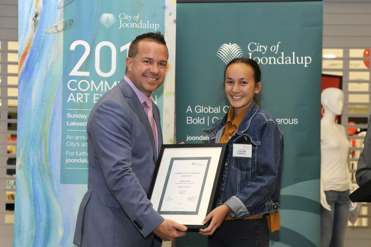 Mayor Troy Pickard and Josephine Campbell. Picture: Chris Kershaw