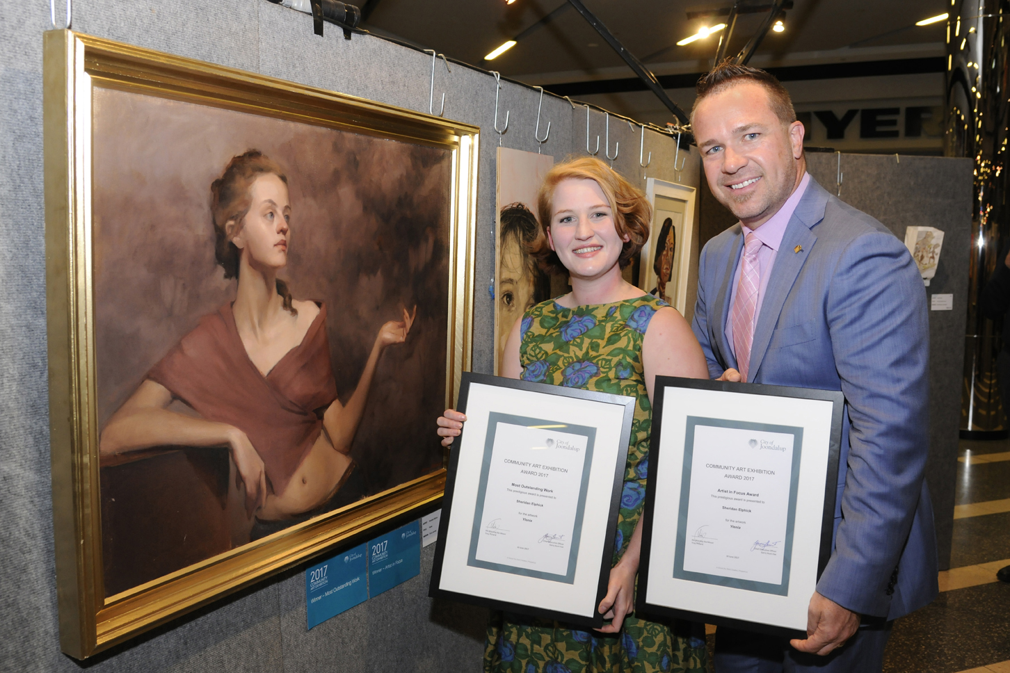 Overall winner Sheridan Elphick and Mayor Troy Pickard. Picture: Chris Kershaw