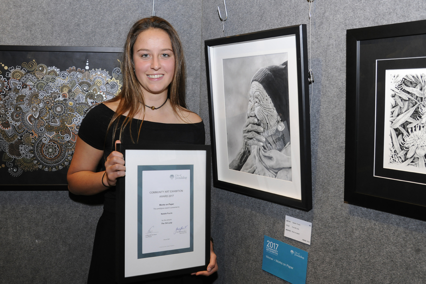 Works on Paper winner Natalie Fourie. Picture: Chris Kershaw