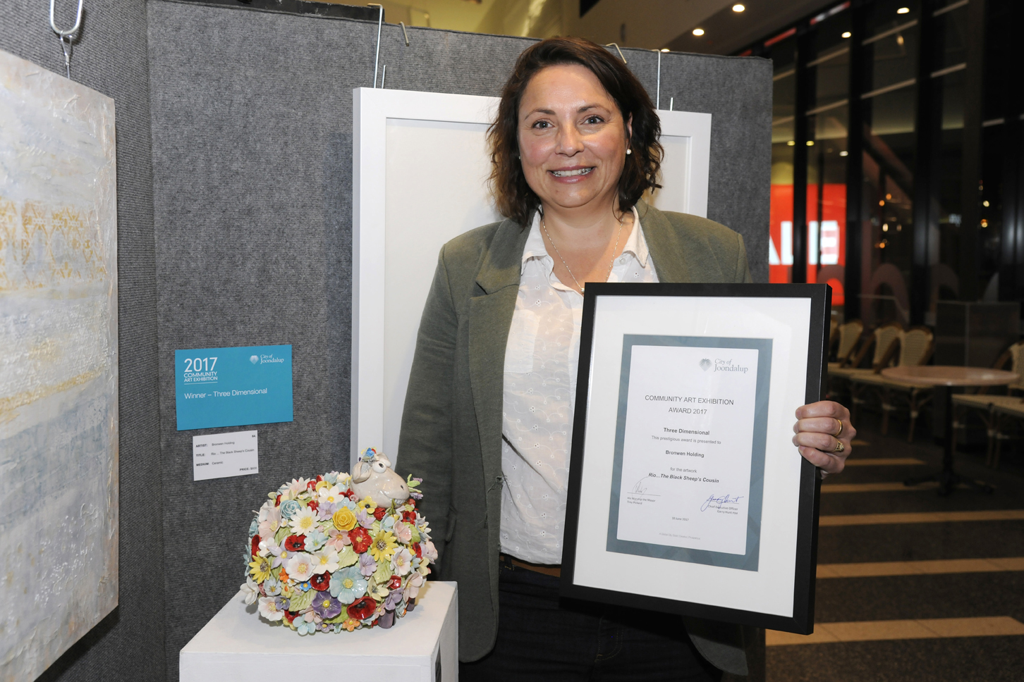 Three-Dimensional Works winner Bronwen Holding. Picture: Chris Kershaw